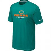Wholesale Cheap Nike Chicago Bears Critical Victory NFL T-Shirt Teal Green