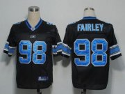 Wholesale Cheap Lions #98 Nick Fairley Black Stitched NFL Jersey