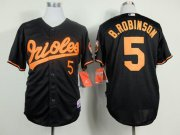 Wholesale Cheap Orioles #5 Brooks Robinson Black Cool Base Stitched MLB Jersey