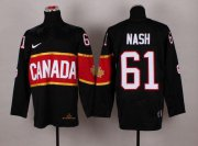 Wholesale Cheap Olympic 2014 CA. #61 Rick Nash Black Stitched NHL Jersey