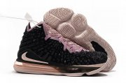 Wholesale Cheap Nike Lebron James 17 Air Cushion Shoes Black Gray Pink