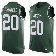Wholesale Cheap Nike Jets #20 Isaiah Crowell Green Team Color Men's Stitched NFL Limited Tank Top Jersey