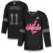 Wholesale Cheap Adidas Capitals #11 Mike Gartner Black Authentic Classic Stitched NHL Jersey