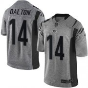 Wholesale Cheap Nike Bengals #14 Andy Dalton Gray Men's Stitched NFL Limited Gridiron Gray Jersey