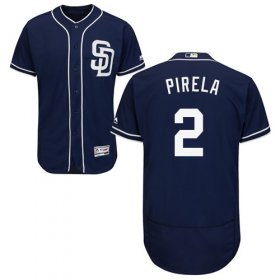 Wholesale Cheap Padres #2 Jose Pirela Navy Blue Flexbase Authentic Collection Stitched MLB Jersey