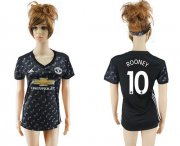 Wholesale Cheap Women's Manchester United #10 Rooney Away Soccer Club Jersey