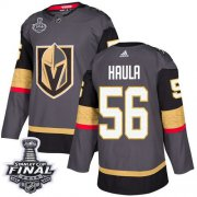 Wholesale Cheap Adidas Golden Knights #56 Erik Haula Grey Home Authentic 2018 Stanley Cup Final Stitched Youth NHL Jersey