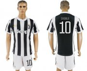 Wholesale Cheap Juventus #10 Dybala Home Soccer Club Jersey