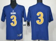 Wholesale Cheap Notre Dame Fighting Irish #3 Joe Montana Shamrock Series Navy Blue Jersey