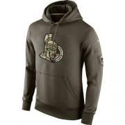 Wholesale Cheap Men's Ottawa Senators Nike Salute To Service NHL Hoodie