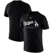 Wholesale Cheap Los Angeles Dodgers Nike MLB Practice T-Shirt Black
