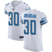 Wholesale Cheap Nike Lions #30 Jeff Okudah White Men's Stitched NFL New Elite Jersey