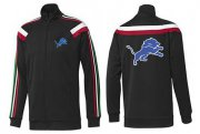 Wholesale Cheap NFL Detroit Lions Team Logo Jacket Black_2