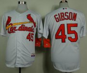 Wholesale Cheap Cardinals #45 Bob Gibson White Cool Base Stitched MLB Jersey