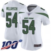 Wholesale Cheap Nike Jets #54 Avery Williamson White Women's Stitched NFL 100th Season Vapor Limited Jersey