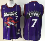 Wholesale Cheap Toronto Raptors #7 Kyle Lowry Hardwood Classic Purple Swingman Jersey