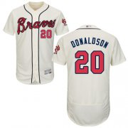 Wholesale Cheap Braves #20 Josh Donaldson Cream Flexbase Authentic Collection Stitched MLB Jersey