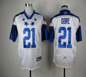 Wholesale Cheap 49ers #21 Frank Gore White 2012 Pro Bowl Stitched NFL Jersey
