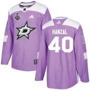 Cheap Adidas Stars #40 Martin Hanzal Purple Authentic Fights Cancer Youth 2020 Stanley Cup Final Stitched NHL Jersey