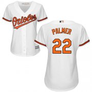 Wholesale Cheap Orioles #22 Jim Palmer White Home Women's Stitched MLB Jersey