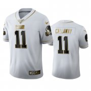 Wholesale Cheap Cleveland Browns #11 Antonio Callaway Men's Nike White Golden Edition Vapor Limited NFL 100 Jersey