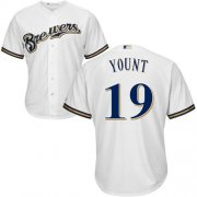 Wholesale Cheap Brewers #19 Robin Yount White Cool Base Stitched Youth MLB Jersey