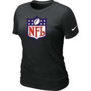 Wholesale Cheap Women's Nike NFL Logo NFL T-Shirt Black
