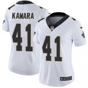 Wholesale Cheap Nike Saints #41 Alvin Kamara White Women's Stitched NFL Vapor Untouchable Limited Jersey