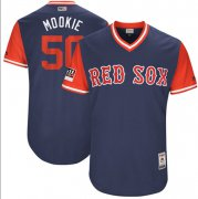 "Wholesale Cheap Red Sox #50 Mookie Betts Navy ""Mookie"" Players Weekend Authentic Stitched MLB Jersey"