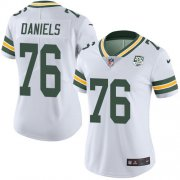 Wholesale Cheap Nike Packers #76 Mike Daniels White Women's 100th Season Stitched NFL Vapor Untouchable Limited Jersey