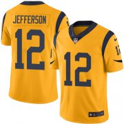 Wholesale Cheap Nike Rams #12 Van Jefferson Gold Youth Stitched NFL Limited Rush Jersey