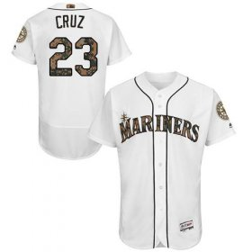 Wholesale Cheap Mariners #23 Nelson Cruz White Flexbase Authentic Collection Memorial Day Stitched MLB Jersey