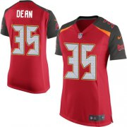 Wholesale Cheap Nike Buccaneers #35 Jamel Dean Red Team Color Women's Stitched NFL New Elite Jersey