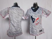Wholesale Cheap Nike Texans Blank Zebra Women's Stitched NFL Elite Jersey