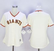 Wholesale Cheap Giants Blank Cream Women's Home Stitched MLB Jersey
