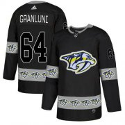 Wholesale Cheap Adidas Predators #64 Mikael Granlund Black Authentic Team Logo Fashion Stitched NHL Jersey
