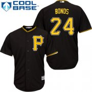 Wholesale Cheap Pirates #24 Barry Bonds Black Cool Base Stitched Youth MLB Jersey