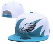 Wholesale Cheap NFL Philadelphia Eagles Fresh Logo White Adjustable Hat