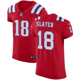 Wholesale Cheap Nike Patriots #18 Matt Slater Red Alternate Men\'s Stitched NFL Vapor Untouchable Elite Jersey