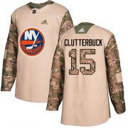 Wholesale Cheap Adidas Islanders #15 Cal Clutterbuck Camo Authentic 2017 Veterans Day Stitched Youth NHL Jersey