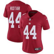 Wholesale Cheap Nike Giants #44 Doug Kotar Red Alternate Women's Stitched NFL Vapor Untouchable Limited Jersey
