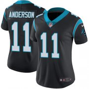 Wholesale Cheap Nike Panthers #11 Robby Anderson Black Team Color Women's Stitched NFL Vapor Untouchable Limited Jersey