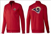 Wholesale Cheap NFL Los Angeles Rams Team Logo Jacket Red