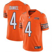 Wholesale Cheap Nike Bears #4 Chase Daniel Orange Men's 100th Season Stitched NFL Limited Rush Jersey