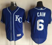 Wholesale Royals #6 Lorenzo Cain Royal Blue Flexbase Authentic Collection Stitched Baseball Jersey