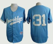 Wholesale Cheap Dodgers #31 Joc Pederson Light Blue Cooperstown Stitched MLB Jersey