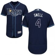 Wholesale Cheap Rays #4 Blake Snell Dark Blue Flexbase Authentic Collection Stitched MLB Jersey