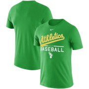 Wholesale Cheap Oakland Athletics Nike Alternate Logo Practice Performance T-Shirt Green