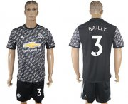 Wholesale Cheap Manchester United #3 Bailly Black Soccer Club Jersey