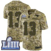 Wholesale Cheap Nike Patriots #13 Phillip Dorsett Camo Super Bowl LIII Bound Youth Stitched NFL Limited 2018 Salute to Service Jersey